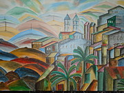 The Hills Mixed Media Originals - The Dream City by Prasenjit Dhar