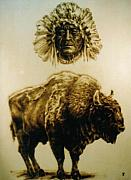 Buffalo Pyrography - The Dream by Jan Olav Forberg