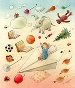 Toys Drawings - The Dream by Kestutis Kasparavicius