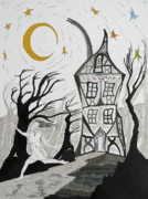 Haunted Drawings Prints - The Dream Print by Mike Paget