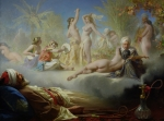 Orientalist Painting Posters - The Dream of the Believer Poster by Achille Zo