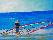 Wind Surfing Art Paintings - The Dreamer Disease I by Ralph Mantia Sr