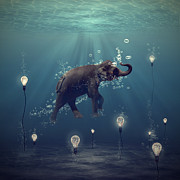 Underwater Digital Art Prints - The dreamer Print by Martine Roch