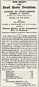 Opinion Prints - The Dred Scott Decision, 1857 Print by Photo Researchers