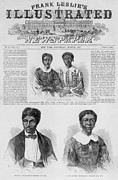 Front Page Framed Prints - The Dred Scott Family On The Front Page Framed Print by Everett