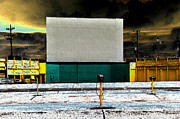 Drive In Theatre Framed Prints - The Drive In Framed Print by David Lee Thompson