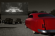 Classic Automobile Prints - The Drive-In Print by Dennis Hedberg