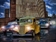 1950 Movies Digital Art - The Drive-In Stands Quite Ghostly Now ....  by Rat Rod Studios