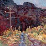 Pole Painting Prints - The Driveway Print by Donald Maier