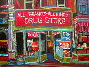 Litvack Paintings - The Drug Store by Michael Litvack