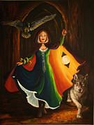 Red Riding Hood Paintings - The Druid by Ann Beeching