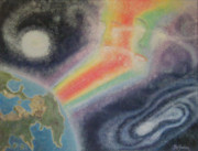 Outer Space Painting Originals - The Duality by Peg Graham