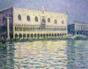 Palazzo Ducale Posters - The Ducal Palace Poster by Claude Monet