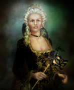 Black Digital Art - The Duchess by Karen Koski