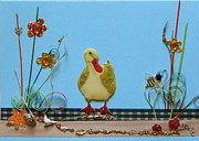 Gracie Mixed Media Originals - The Duck by Gracies Creations