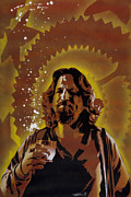 Orange Painting Metal Prints - The Dude Metal Print by Iosua Tai Taeoalii