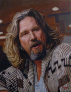 The Dude Paintings - The Dude Jeff Bridges by Thomas Hoyle