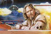 Lebowski Paintings - The Dude by Ken Hancock