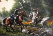 Civil Paintings - The Duel by Dan  Nance