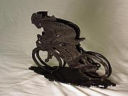 Bicycle Sculpture Posters - The Duel Poster by Steve Mudge