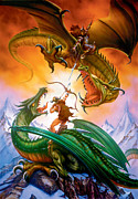 Dragon Prints - The Duel Print by The Dragon Chronicles