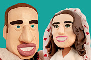 Duchess Sculpture Posters - The Duke and Duchess of Cambridge Poster by Louisa Houchen
