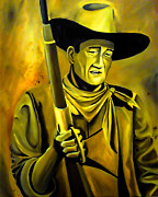 John Wayne Paintings - The Duke  by Chris  Leon