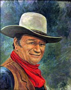 John Wayne Paintings - The Duke by Donna Tucker