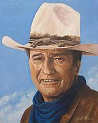 John Wayne Paintings - The Duke by Kenneth Kelsoe