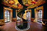 Spiral Staircase Metal Prints - The Dukes Castle Metal Print by John Galbo