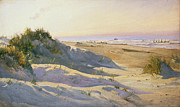 On The Beach Prints - The Dunes Sonderstrand Skagen Print by Holgar Drachman