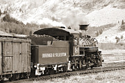 Steam Engine Prints - The Durango and Silverton into the Mountains Print by Mike McGlothlen