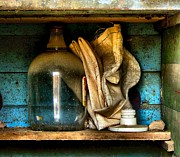 Old Shelfs Metal Prints - The Dust Gatherers Metal Print by Julie Dant