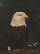 American Eagle Paintings - The Eagle Reigns by Carol Van Sickle