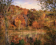 Autumn Landscape Art - The Eagles Pond by Jai Johnson