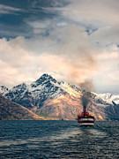Nz Prints - The Earnslaw on Lake Wakatipu Print by Barry Teutenberg
