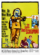 1960s Poster Art Posters - The Earth Dies Screaming, 1964 Poster by Everett