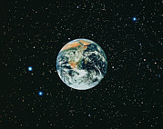 Starfield Posters - The Earth Seen From Apollo 17 Poster by Nasa