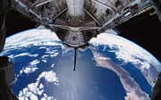 Shuttle Prints - The Earth Viewed From The Space Shuttle Print by Stockbyte