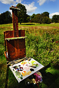 Artist Watercolor Prints - The Easel Print by Jim  Calarese
