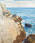 Calm Waters Posters - The East Headland Poster by Childe Hassam