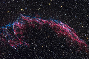 Witches Broom Prints - The Eastern Veil Nebula Print by Roth Ritter