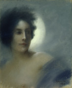 Portraiture Pastels Prints - The Eclipse Print by Paul Albert Besnard