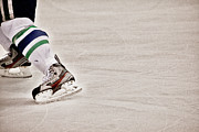 Hockey Player Prints - The Edge Print by Karol  Livote