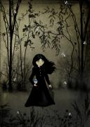 Goth Girl Digital Art - The Edge of Night by Charlene Zatloukal