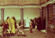 Targets Prints - The Education of the Children of Clothilde and Clovis Print by Sir Lawrence Alma-Tadema