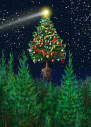 Constellations Digital Art - The Egregious Christmas Tree Classic Portrait by Russell Kightley