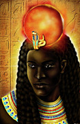 Hathor Digital Art Metal Prints - The Egyptian God Ra  Metal Print by Emhotep Richards
