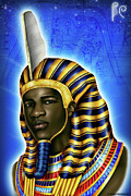 Hathor Digital Art Metal Prints - The Egyptian God Shu Metal Print by Emhotep Richards