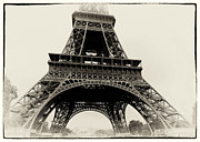 Eifel-tower Posters - The Eiffel Tower Poster by Hakon Soreide